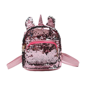 Women Sequins Unicorn Backpacks Teenage Girls Travel Large Capacity Bags Portable Party Mini School Bags Shoulder Bag for Lady - thefashionique