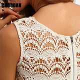 Women Summer Dress 2018 New Fashion Casual Floral Lace Patchwork Sleeveless Tunic Dresses Ladies 2017 Bohemian Boho Beach Dress - thefashionique