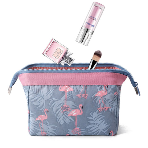 Women Travel Cosmetic Bag Animal Flamingo Make Up Bags Girl Function Makeup Case Beauty Wash Organizer Toiletry Storage Bag