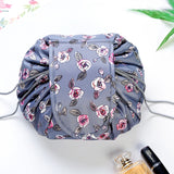 Women Travel Flamingo Makeup Drawstring Cosmetic Bag Organizer Make Up Bag Storage Pouch Toiletry Beauty Kit Box Wash Bag - thefashionique