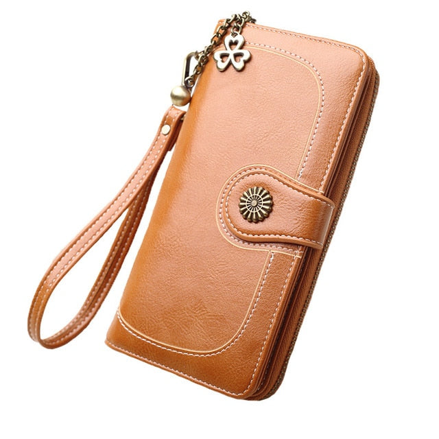 Women Wallets PU Leather Wallet Female Purse Long Coin Purses Holders Ladies Wallet Hasp Fashion Womens Wallets And Purses - thefashionique