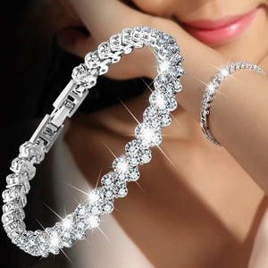 Women's Fashion Classic Cubic Zirconia CZ Silver Gold Color Bracelet for Women Wedding Party Jewelry High Quality Gift