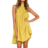 Womens Holiday Irregular Dress Ladies Summer Beach Sleeveless Party Dress vestidos verano 2018 New Arrival dresses for women - thefashionique