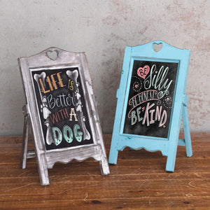 Wooden Desktop Memo Message Blackboard Chalkboard Easel Restaurant Restaurant School Office Supplies C26