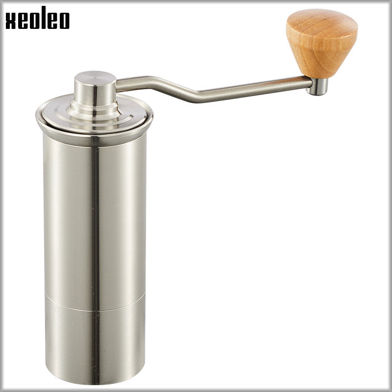 XEOLEO High quality Manual Coffee grinder 45MM Aluminum Coffee miller Black/Brown/Silver 15g Mini Coffee milling machine - thefashionique