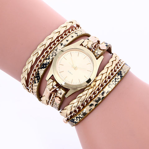XG349 Women Watch Quartz Wristwatches Relogio Feminino Golden Weave Chain Women's Bracelet Watch Ladies Hours Hand Strap Gifts