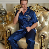 XIFENNI Brand Couple Nightgowns Sexy Satin Silk Pyjama Lounge Sets For Men Women Fashion Blue Lovers Sleepwear Hot Trend - thefashionique