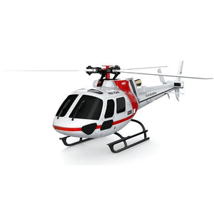 XK K123 6CH Brushless AS350 Scale 3D6G System Low Voltage Alarm Quote Aerodynamic Blade Suitable For Beginner RC Helicopter BNF - thefashionique
