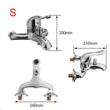 Xueqin Chrome Polished Wall Mounted Bathroom Faucet Mixer Tap Bath Tub Valve Shower Faucets Single Handle Cold And Hot Water - thefashionique