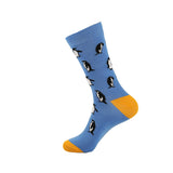 YEADU Big Size Mens Socks  Animal  Sloths Novelty Cute Sock Combed Cotton Funny Socks Men's Crew Socks - thefashionique