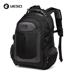 YESO Brand Laptop Backpack Men's Travel Bags 2018 Multifunction Rucksack Waterproof Oxford Black Computer Backpacks For Teenager - thefashionique