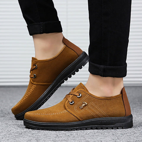 YOUYEDIAN Men Non-slip CASUAL Breathable Non-Slip Shoes Casual Shoes Lace-Up Shoes Round Toe Flat Shoes #jsw - thefashionique