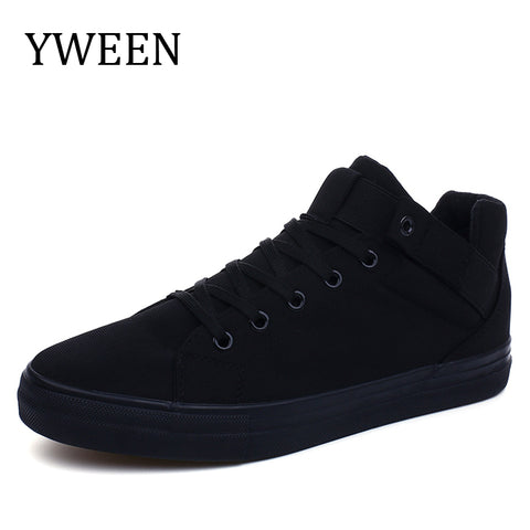YWEEN 2018 Fashion High top Men's Casual Shoes High Quality Men Canvas Shoes Breathable Man Lace up New Sneakers for Students - thefashionique