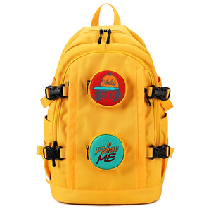 Youth College Style School Bag Large Capacity Female Computer Backpack Multifunction Yellow Backpack Women'S Outdoor Travel Bag - thefashionique