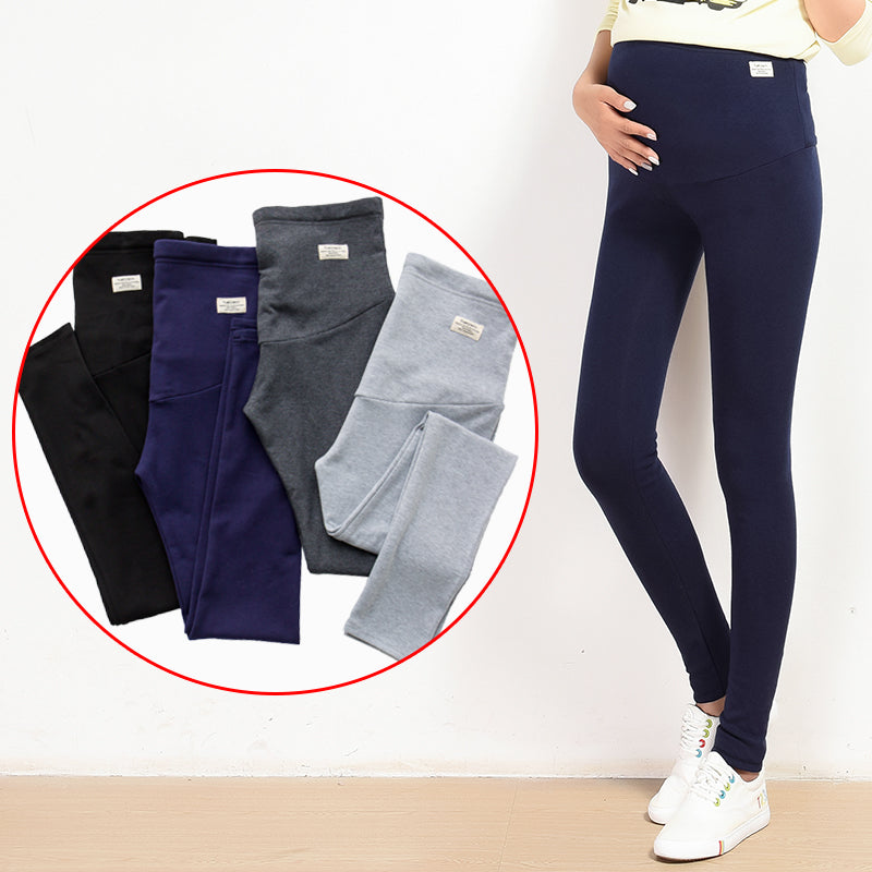 Yuanjiaxin Summer Belly Skinny Maternity Legging in Elastic Cotton Adjustable Waist Pencil Pregnancy Pants Clothes for Pregnant - thefashionique