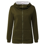 S-4XL ZANZEA Plus Size Women Fleece Jackets Hooded Sweatshirt Coat Winter Warm Hoodies Coats Thick Casual Long Sleeve Outerwear - thefashionique