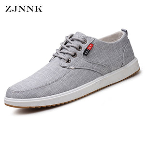 ZJNNK New Arrival Spring Summer Autumn Comfortable Casual Shoes Mens Canvas Shoes For Men Lace-Up Footwear Breathable Male Shoes - thefashionique