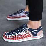 ZUNYU 2019 Summer Big Size 47 Men Sandals Fashion Handmade Weaving Design Breathable Casual Beach Shoes Outdoor Sandals For Men - thefashionique