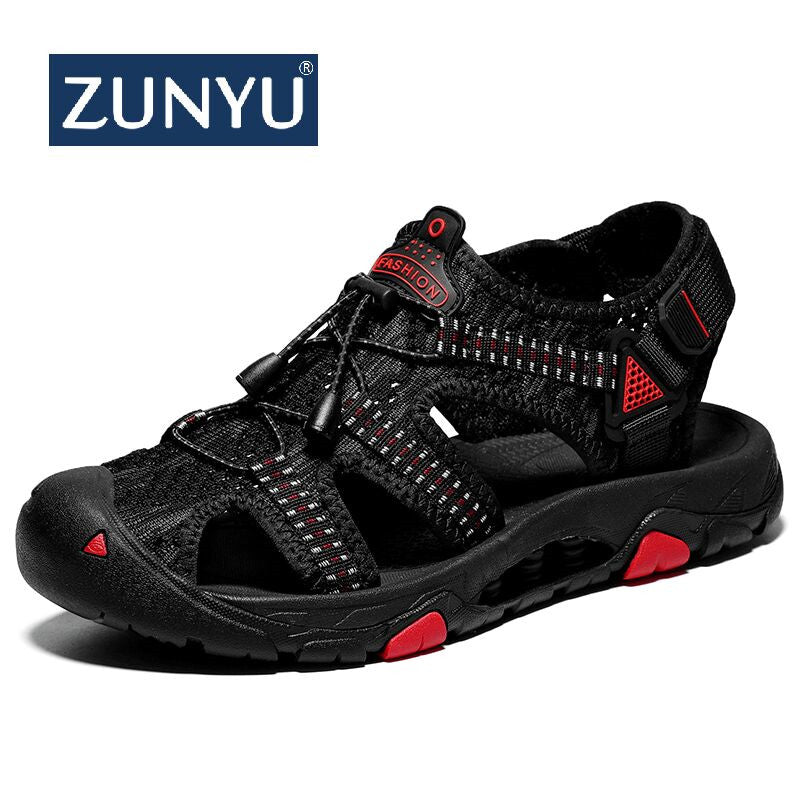 ZUNYU 2019 Summer Fly Woven Outdoor Men's Sandals Shoes For Male Casual Shoes Walking Beach Sandalias Fashion Water Sneakers - thefashionique