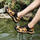 ZUNYU New Men Genuine Leather Men Roman Sandals Soft Fisherman Summer Casual Shoes Men Beach Sandalias Water Sneakers Size 38~48 - thefashionique