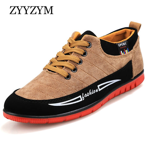 ZYYZYM Men Casual Shoes Autumn Winter Hot Sale Fashion Rubber Lace-Up Warm Add Plush Men's Shoes - thefashionique