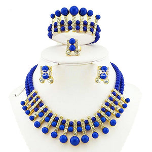 african necklace bead jewelry sets  gold african jewelry set  african wholesale wedding jewelry beads bracelet