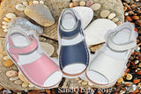 baby girls sandals 2017 summer kids pink white navy classic for little girls toddler shoes handsewing chaussure plain sandals - thefashionique