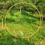 circle Wedding Arch Background Wrought Iron Shelf Decorative Props DIY Round Party Background Shelf Flower with Frame - thefashionique