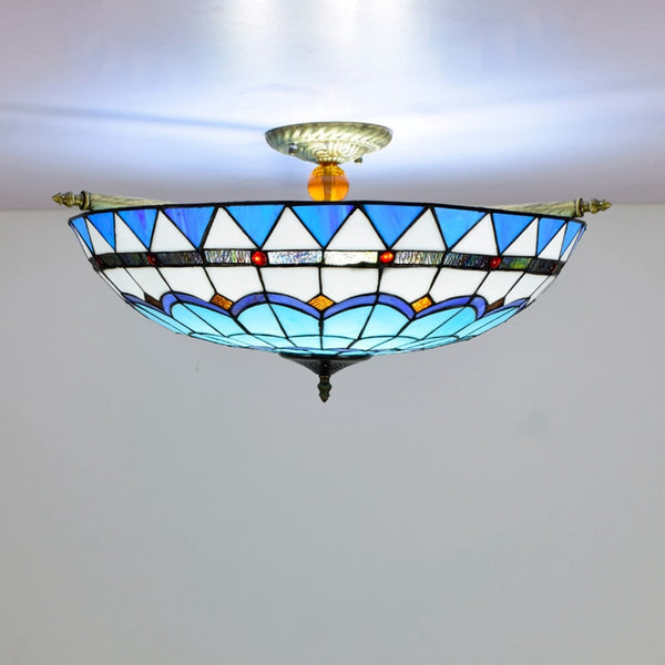 e27 LED Tiffany Colorzied 65cm Designer Lamparas De Techo Ceiling Lights.LED Ceiling Light.Ceiling Lamp For Foyer Bedroom