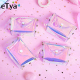 eTya Transparent Coin Purse Women Small Wallet Female Change Purses Mini Children's Pocket Wallets Key Card Holder PVC Hand bags - thefashionique