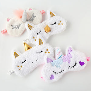 eyes care tool  Unicorn Sleeping Eye Mask  Blindfold Eye Cover Shadow Soft Cover for Girl Kid Teen Traveling Sleep Eyeshade - thefashionique