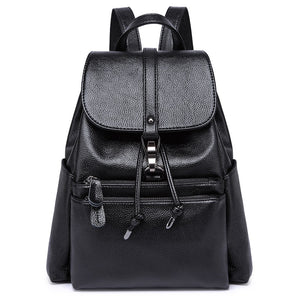 factory outlet 2019 women's backpack women Genuine Leather bag for women purse mochila feminina escolar kanken backpack bolsa - thefashionique