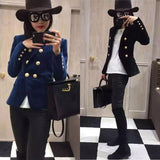 fashion Blazer Women Blazer New Spring And Autumn Slim Gold Velvet Small Suit