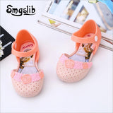 girls shoes kids sandals Princess party dress shoes Cartoon pattern sandalia infant kids Summer children soft bottom sandals - thefashionique