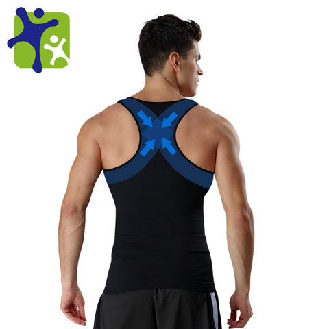 hot sell Slim vest,Lift For Men Slimming quick dry Shirt,,Weight Vest Shaping Undergarment Elimination Of Male Beer Belly NY085 - thefashionique