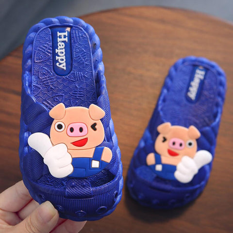 koovan children's slippers 1-7 year old children slippers Summer cool piggy girl boy baby bathroom home anti-skid slippers kids - thefashionique