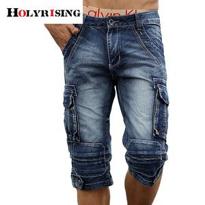 men cargo shorts bermuda homme male fashion shorts Washed denim short men jeans shorts homme - thefashionique