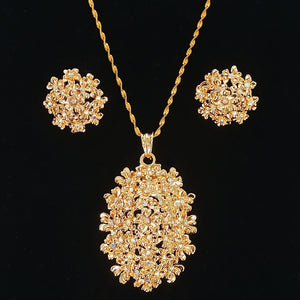 new design jewelry necklace set graceful earrings for women gold necklace accessoris wedding jewelry gift cheap price