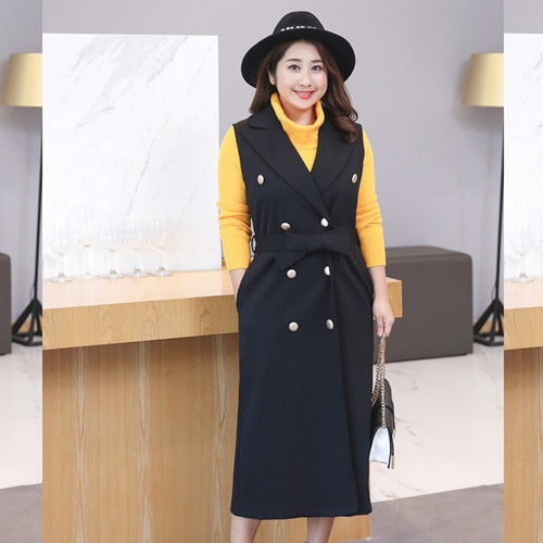 new winter long vest xxxxl plus size women
