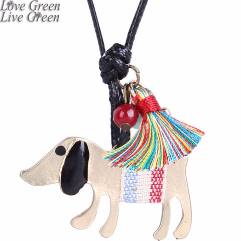 pet dog pendant necklace zakka style home family love jewelry tassel element jewelry 3639 - thefashionique