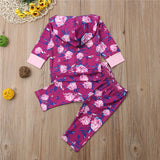 pudcoco Newborn Baby Girl Fashion Clothes Set purple Floral Autumn Hooded Tops+Pants Girls Outfits Casual Clothing sets - thefashionique