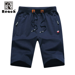 reach Men Shorts Cotton 2018 Men Short Pants Zipper Casual Summer Trousers Solid Shorts Elastic Waist 4XL Street Wear New - thefashionique