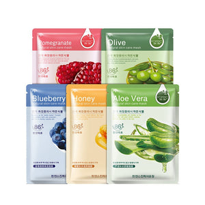 rorec Plants Face Mask Moisturizing Oil Control Korean Cosmetics Patches Hydrating Wrapped Mask Aloe Collagen Face Skin Care - thefashionique
