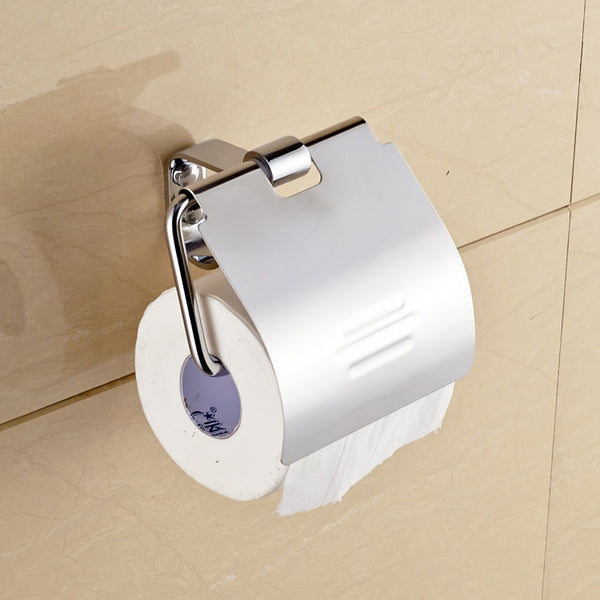 stainless steel towel box bathroom sanitary ware hardware hanging paper towel rack tissue box toilet set - thefashionique