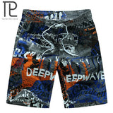tailor pal love 2017 new summer hot men beach shorts quick dry coconut tree printed elastic waist 4 colors M-6XL AYG219 - thefashionique