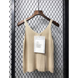 wholesale Women off shoulder knitted bustier crop top woman's sleeveless crop top elastic tube tank tops Fashion sexy camis - thefashionique