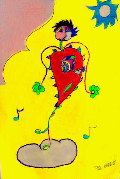 Dancing Heart Greeting Card