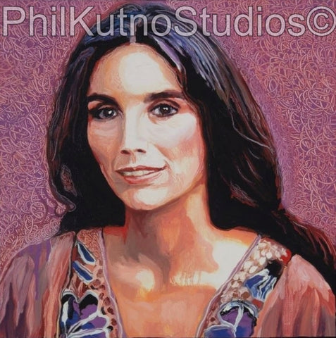 EmmyLou Harris Oil Painting