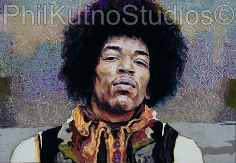 Jimi hendrix Oil Painting