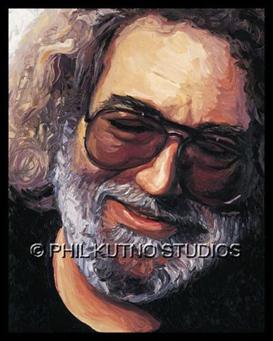 Jerry Garcia - Painting Print On Canvas #2
